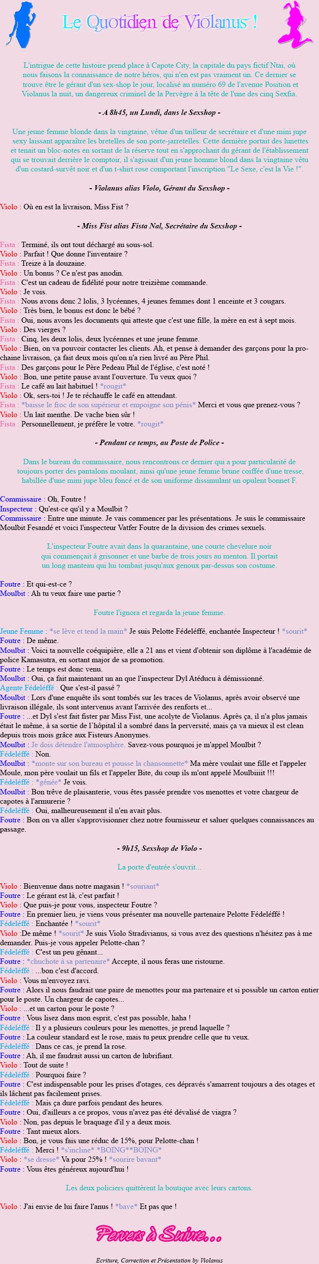 [Fiction] Violanus ! [-18] 01